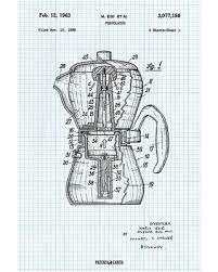 Coffee Percolator Poster Patent Art Print Graph Paper