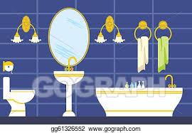 vektor illustration badezimmer eps clipart gg61326552