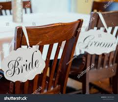 Wedding Reception Decorations Placed Onto Wooden Stock Photo ...