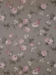 aromas vlies tapete 623 3 floral blumen rosa grau landhaus