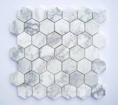 2 italian calacatta gold marble hexagon mosaic tile