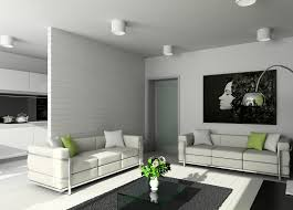 modern minimalist living room lighting and partition wall 3d house