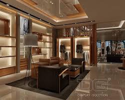 GR01 Luxury Mens Clothing Display Wall Cabinet Guangzhou Dinggui