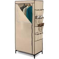 honey can do 27 storage closet with shoe organizer khaki brown