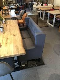 küchen sofa esszimmerbank 2sitzer grau chesterfield style