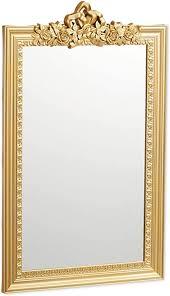 relaxdays barock spiegel zierrahmen antik barock design wandspiegel zum aufhängen flur wohnzimmer nostalgie gold