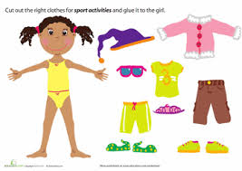 Printable Paper Doll Dress Up Party