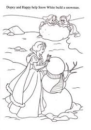 Snow White And The Seven Dwarfs Coloring Page For Christmas