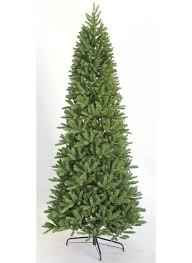 White Flocked Pencil Christmas Tree by King Fraser Fir Slim Quick Shape Artificial Christmas Tree King