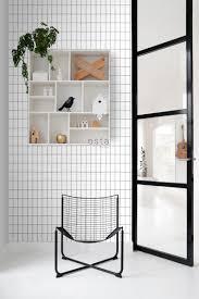 wohnzimmer tapete kleine fliesen schwarz weiß 139030