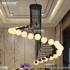 modern loft industrial chandelier lights bar stair dining room