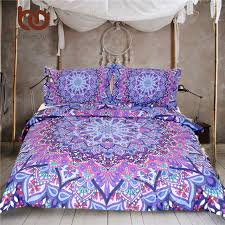 BeddingOutlet Purple Glowing Mandala Duvet Cover With Pillowcases