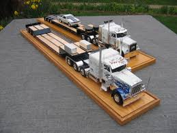 amt truck lowboy trailer car truck scale models