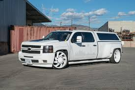 100 Chevy Dually Trucks Stanced 6Wheel Silverado Rides On Forgiato Wheels With