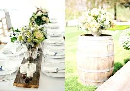 Rustic Wedding Decor Rentals Toronto Centerpieces And Table Settings In Style Chic Setting With Wooden Slab