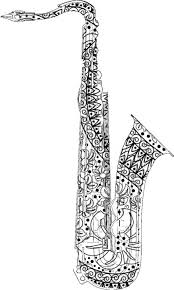 Adult Coloring Pages Saxophone For The Best Books And Supplies Including