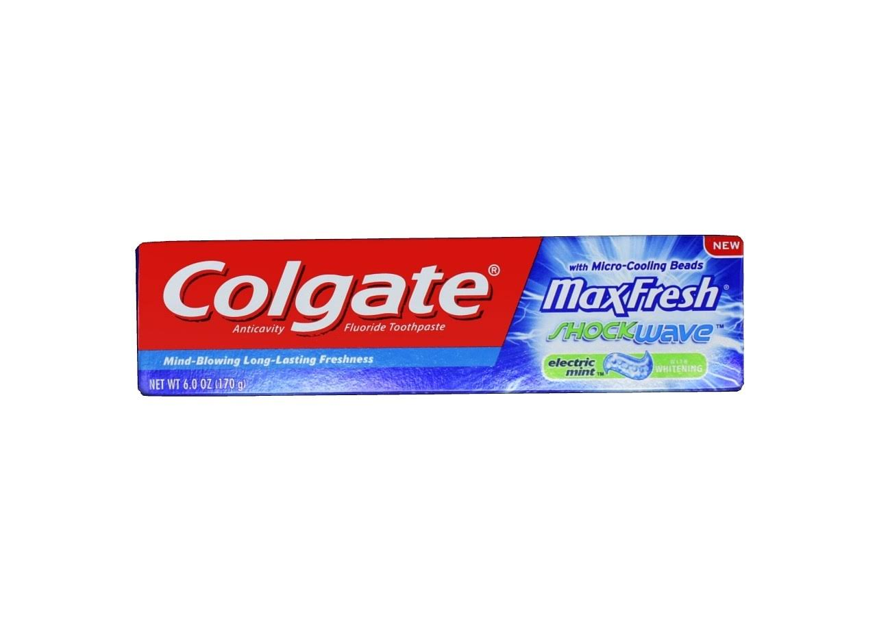 Colgate Max Fresh With Whitening Breath Strips Anticavity Fluoride Toothpaste - Cool Mint, 170g