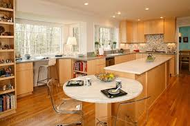 Modern Kitchen With CWP Cabinetry Marble Island Contemporary