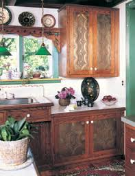 Kitchen Cabinets In A More Rustic Setting