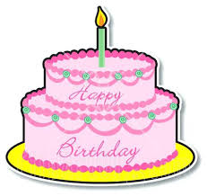 birthday cake clip art autograph two layered birthday cake with pink frosting and a lit candle birthday cake clip art
