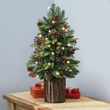 7ft Pre Lit Christmas Trees by Christmas Trees Hammacher Schlemmer