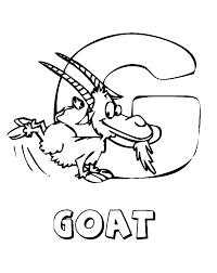 Coloring Pages Alphabet Animal Farm Goat