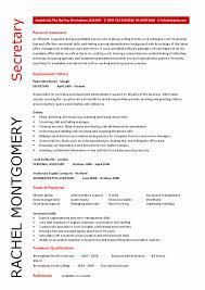 Resume Examples For Secretary Position Lovely Amusing Sample Objective In Job 54