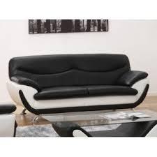 avis vente unique canape vente unique canapé 3 places en simili indice bicolore noir et