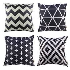 Living Room Masculine Black And White Throw Pillow Covers Orange