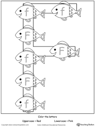 Recognize Uppercase And Lowercase Letter F Frog Coloring PagesLetter