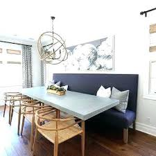 Dining Room Art Ideas Purple Bench With Concrete Top Table
