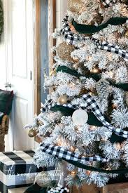Flocked Christmas Trees Tree By The Wood Grain Cottage 8 Ft Uk