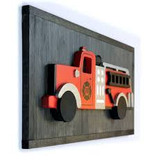 100 Fire Truck Wall Art 3D Truck Wood Sign Vintage Truck Grace And Elm