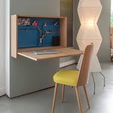 grand bureau mural noé par sentou wall mounted desk wood design