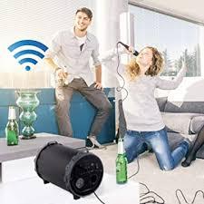 clipsonic bluetooth lautsprecher mit mikrofon karaoke funktion tragegriff kabellos akku usb anschluss smartphone pc tablet radio