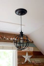 5 minute light upgrade converting a recessed light to a pendant