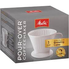 MelittaR Pour OverTM Porcelain Single Cup Serving Coffee Brewer Box