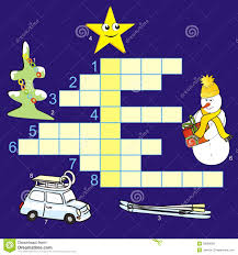 Christmas Tree Type Crossword by Christmas Crossword Royalty Free Stock Images Image 32060089