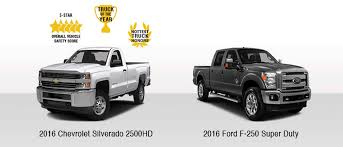 Chevy Silverado 2500HD Vs Ford F-250 | Truck Comparison | 2016 ...