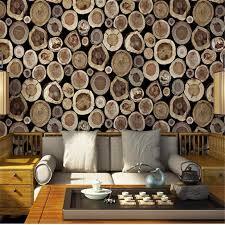 rustikalen faux stückholz tapetenrollen natur vintage wand papier vinyl dunkelgrau braun wandverkleidung für wohnzimmer home decor