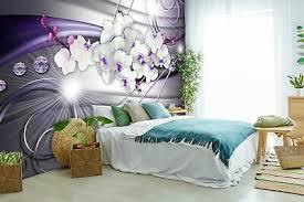 vlies fototapete orchidee diamanten lila tapete