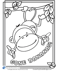 Cute Monkeys Coloring Pages