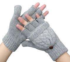 x u0026f women u0027s warm knitted woolen half finger mittens girls