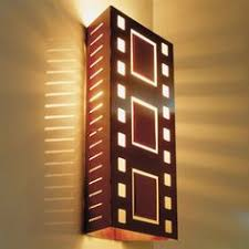 bass fimstrip home theater wall sconce light copper new home
