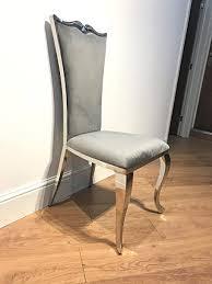 de luxus italienischen stil esszimmer stühle silber