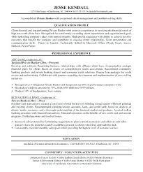 Personal Banker Objective Resume Sample Job Description For