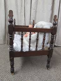Lot Detail ANTIQUE C 1880 S SOLID WOOD BABY CRIB VINTAGE BABY