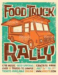 Food Truck Rally Screen Printed Poster Vector Design Stock Vector ...