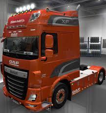 100 Euro Truck Sim Mods DAF XF E6 BY OHAHA 145 ETS 2 S Ulator 2
