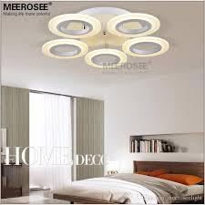 led ring ceiling light fixture flush mounted acrylic white led